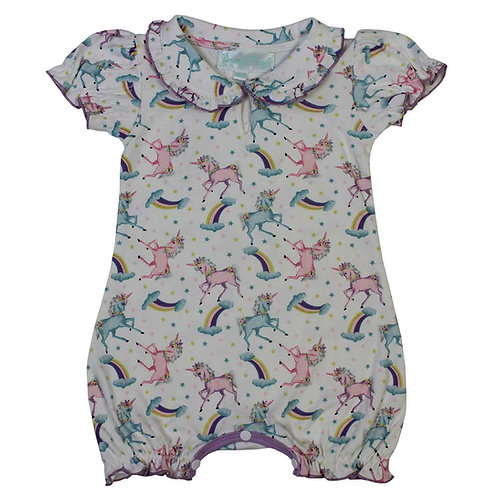 Unicorn Print Baby Grow