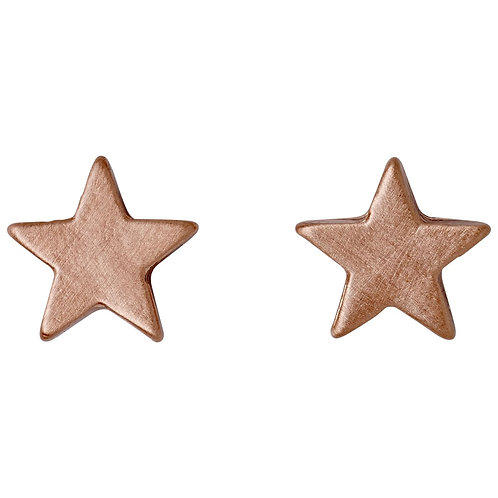 Ava Star Rose Gold-Plated Studs - Small