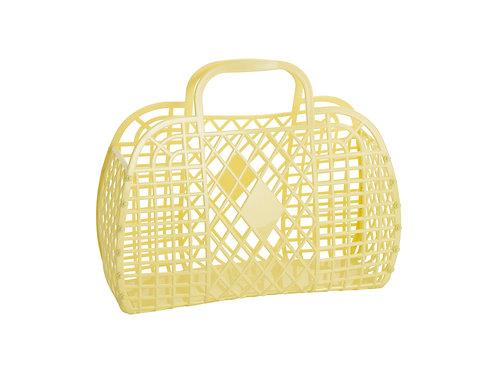 Retro Basket - Large Yellow