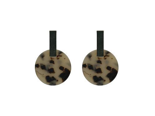 Ernestine Resin Disc Earrings - Tortoise