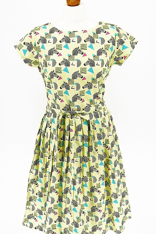 Zebra/Geometric Tea Dress