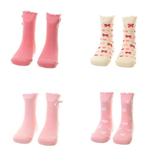 Hearts and Bows Socks Gift Set