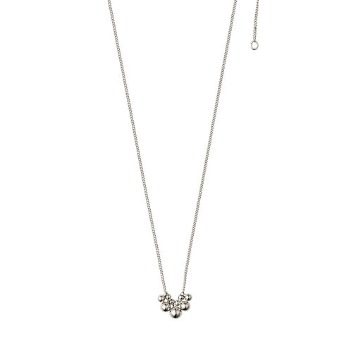 Meg Silver-Plated Cluster Necklace