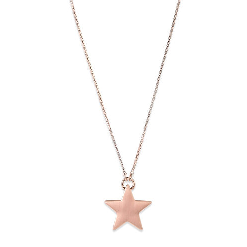 Ava Star Rose Gold-Plated Adjustable Necklace