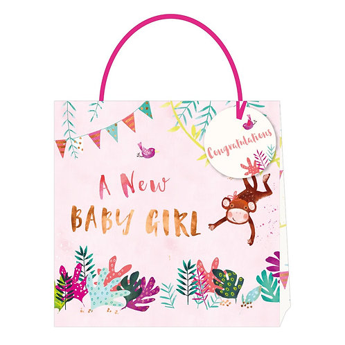 Jack & Lily Baby Girl Monkey Medium Bag