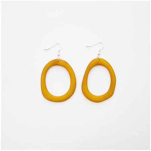 Loop Earrings - Yellow