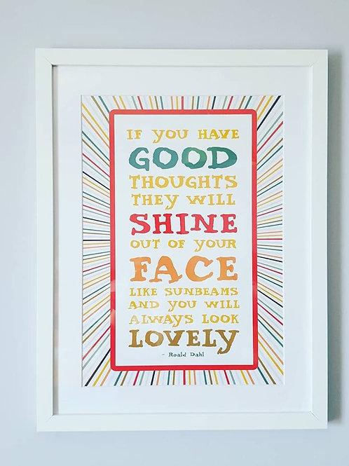 Roald Dahl Quote - Framed Print