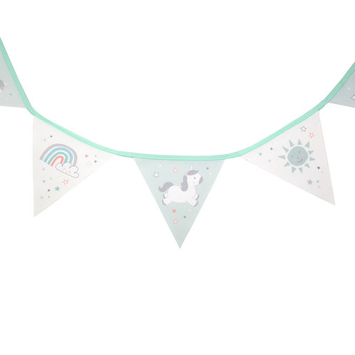 Evie Unicorn Fabric Bunting