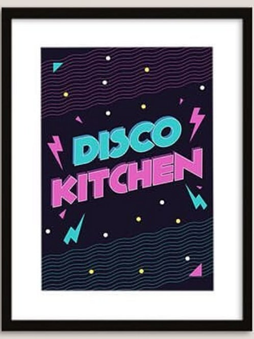 Disco kitchen - Framed Print