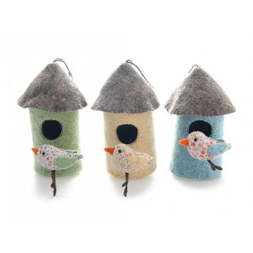 Bird House with Bird (Mini Chick)