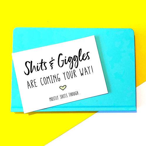 Shits & Giggles Baby Card