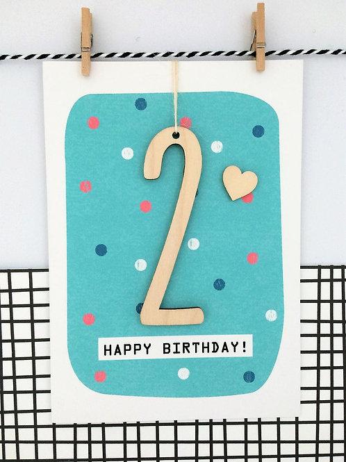 Age 2 Birthday Card