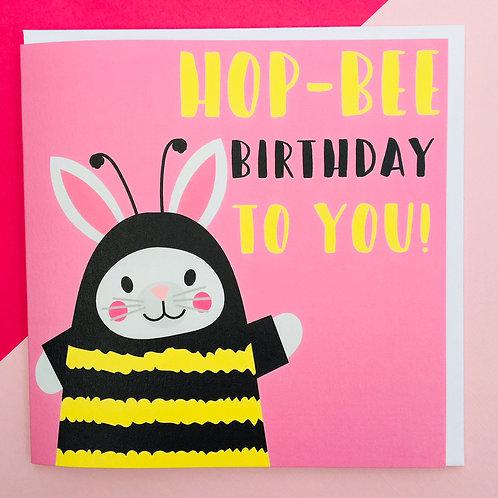 Hop-Bee Birthday Card