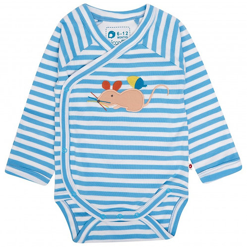 Fieldmouse Wrapover Baby Bodysuit