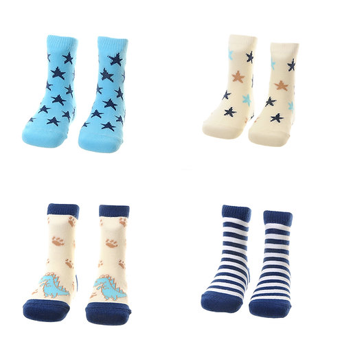 Dino and Star Socks Gift Set