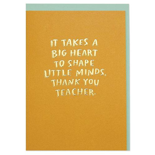 'Thank You Teacher' Card