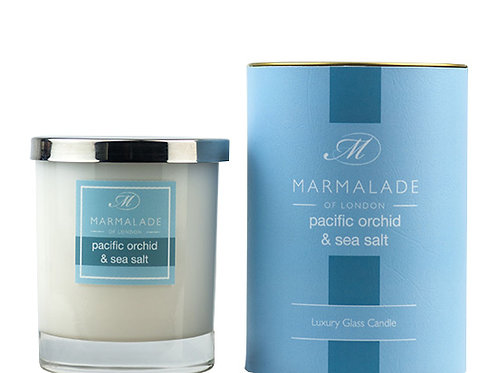 Pacific Orchid & Sea Salt Large Glass Candle