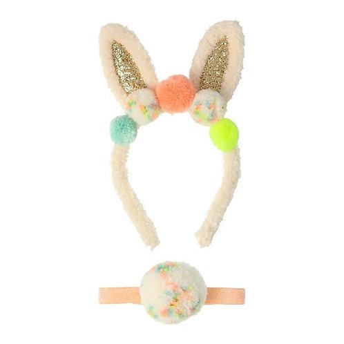 Pom Pom Bunny Ear Dress Up