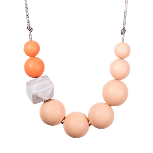 Millie Teething Necklace - Blush & Marble