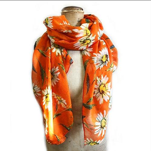 Orange Daisy Scarf