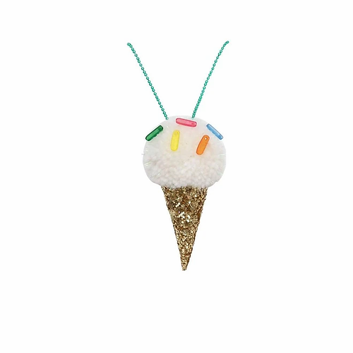 Ice Cream Pom Pom Necklace