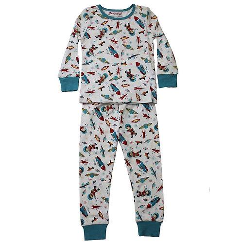 Space Print Cosy Pyjamas