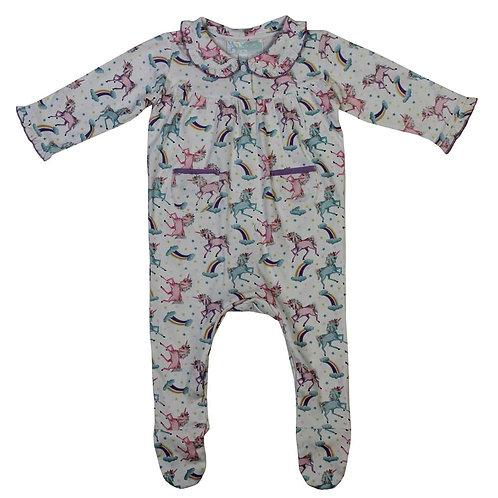 Unicorn Print Sleepsuit
