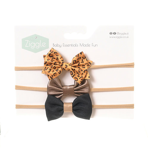 Party Mustard Hairbow Set