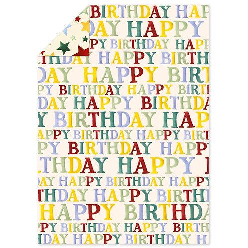 Emma Bridgewater Happy Birthday Flat Wrap