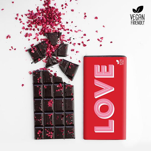 LOVE Dark Raspberry Chocolate Bar