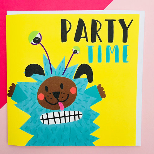 Party Time Dog Monster Card
