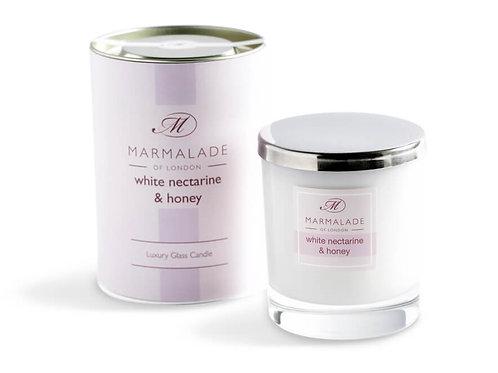 White Nectarine and Honey Glass Jar