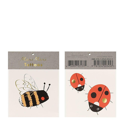 Bee & Ladybird Small Tattoos