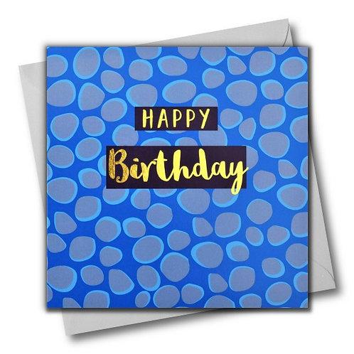 Blue Dots Birthday Card