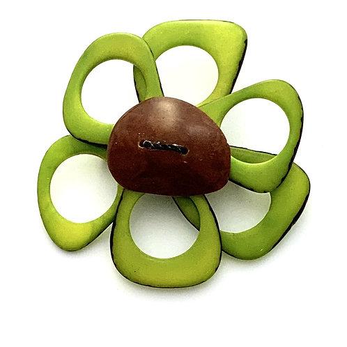 Flower Brooch - Apple Green