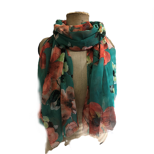 Flower clusters scarf