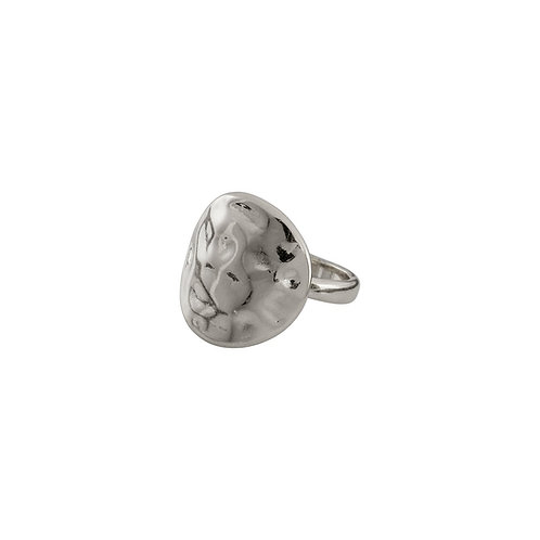 Cornelia Silver-Plated Ring with Hammered Surface