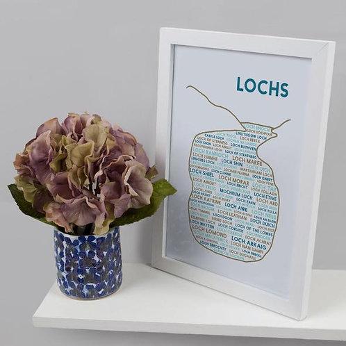 A4 Lochs Print