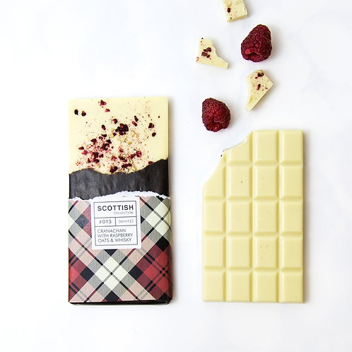 Cranachan White Chocolate with Raspberries and Oats
