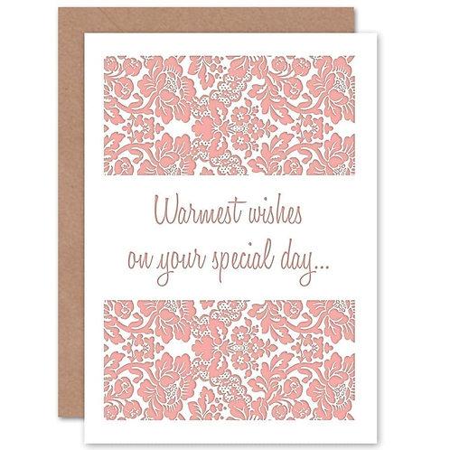 Warmest Wishes Wedding Card