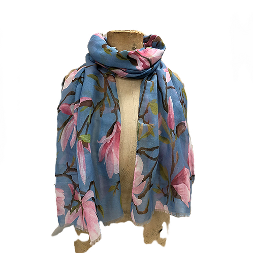 All over wild flower pattern scarf