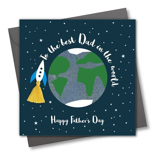 Rocket Around The World - Father's Day Card