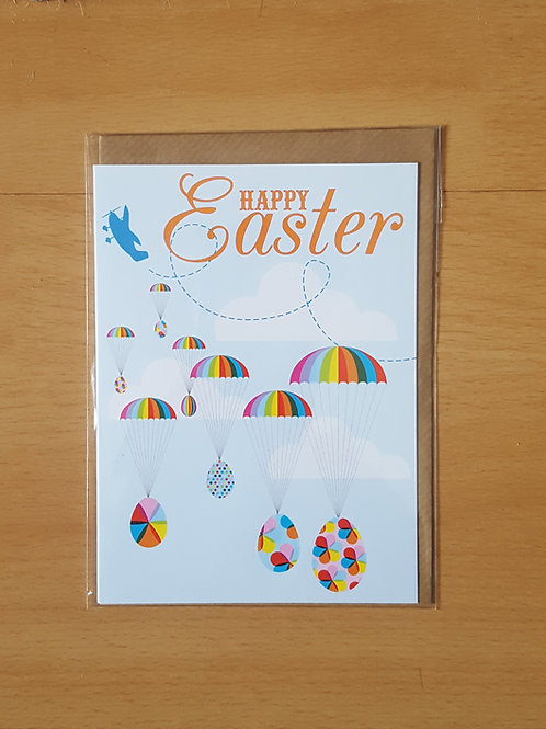 Happy Easter Hot Air Balloons Card