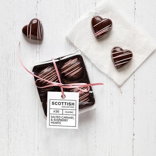 Salted Caramel & Raspberry Hearts - Mini Pack