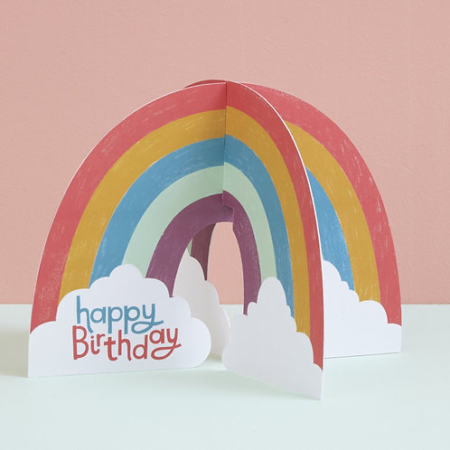 Rainbow Fold-out Birthday Card