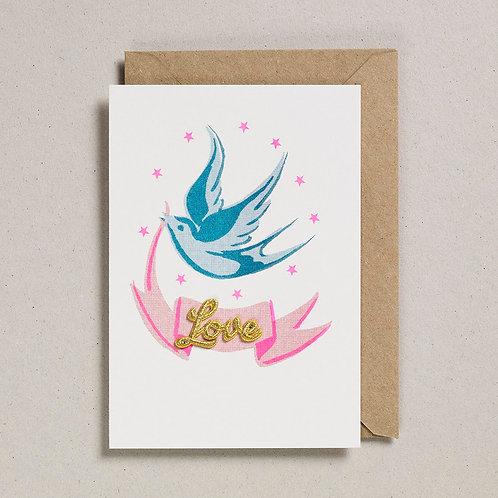 Bird & Ribbon Card