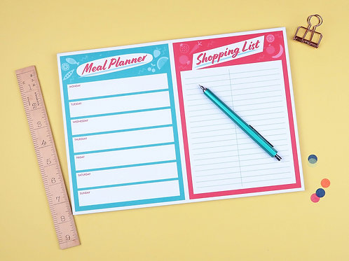 Meal Planner/Shopping List pad