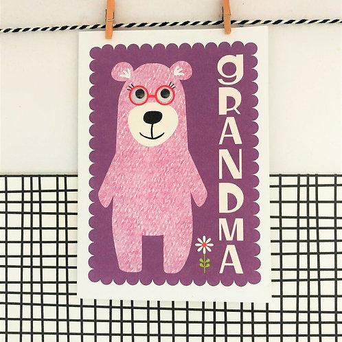 Grandma Bear Card