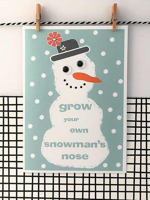 Grow Your Own Snowman's Nose