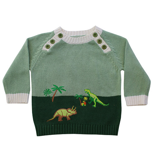 Dinosaur Knitted Jumper